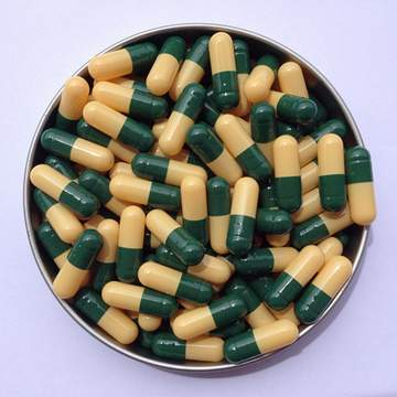 1# 深綠/黃 羅賽洛明膠空心硬膠囊