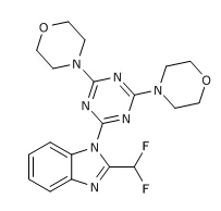 4,4'-(6-(2-(Difluoromethyl)-1H-benzo[d]imidazol-1-yl)-1,3,5-triazin-2,4-diyl)dimorpholine