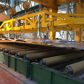 5噸鋼板搬運吸盤吊具、校平機板材起吊吸盤