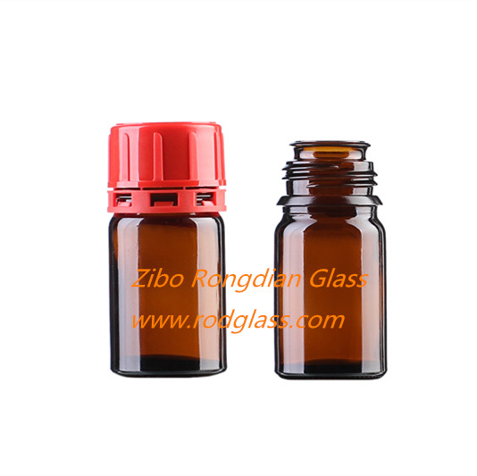 30ml amber reagent bottle,wide mouth for solid chemical reagent