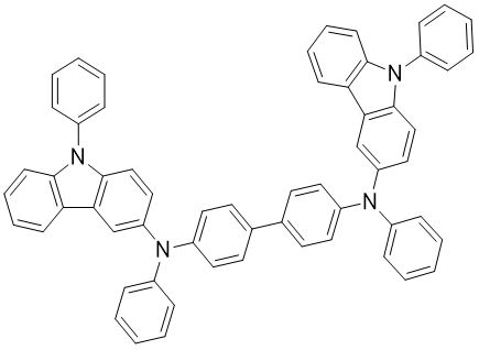 N,N'-二苯并-N,N'-双(9-苯基咔唑基-3-)联苯基-4,4'-二胺