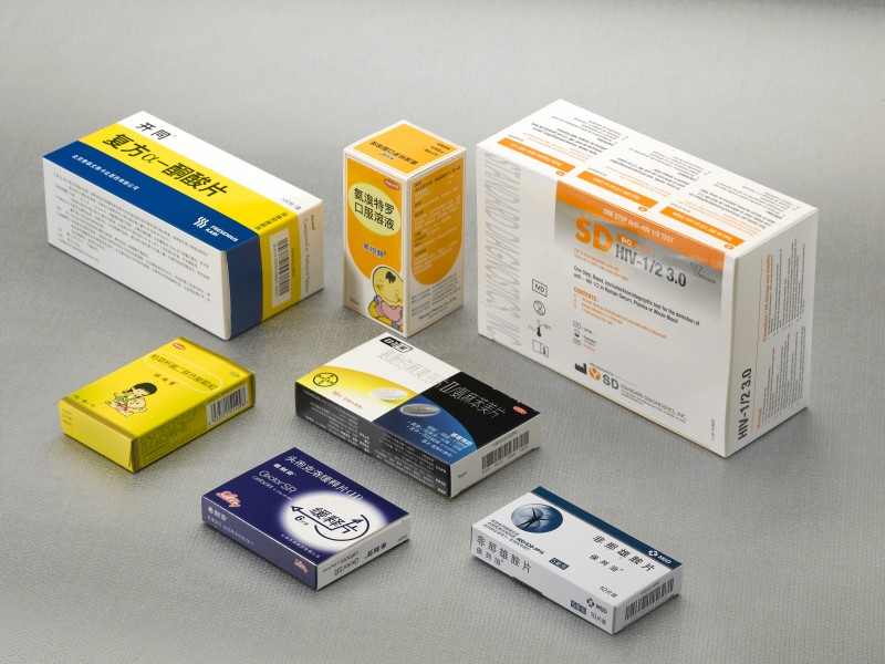 药品外包装折叠纸盒