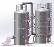 新聚VOCs多相氧化塔