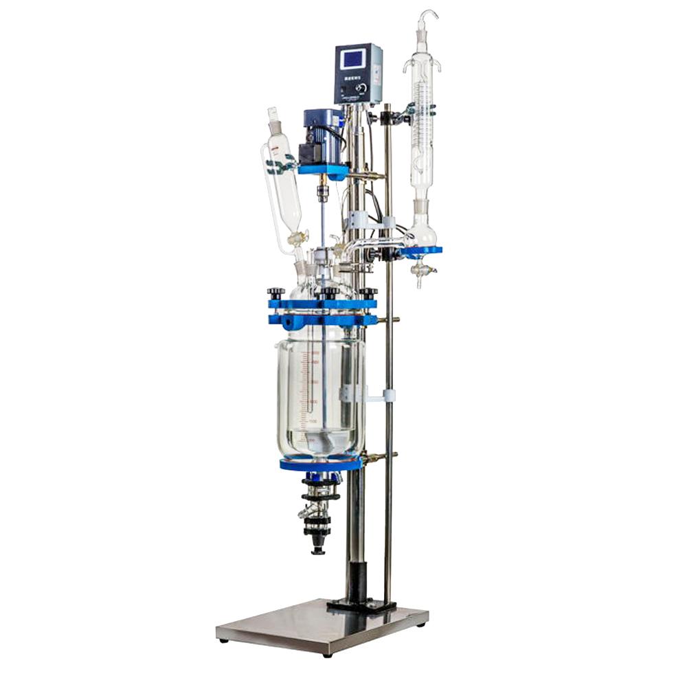 YSF系列5L 雙層玻璃反應釜 智能控溫加熱攪拌一體 密封玻璃反應器
