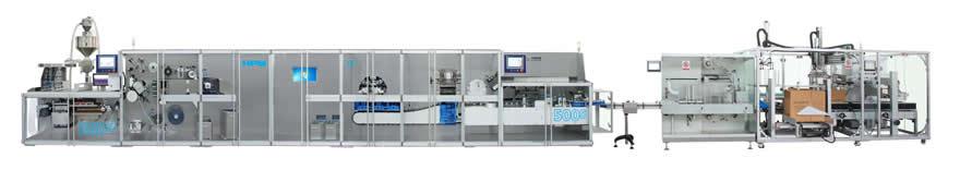 DPH380S-DXH500S藥品泡罩裝盒包裝智能生產線成套系統(全伺服)