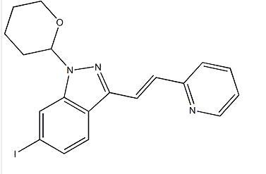 (E)-6-碘-3-[2-(吡啶-2-基)乙烯基]-1-(四氢-2H-吡喃-2-基)-1H-吲唑