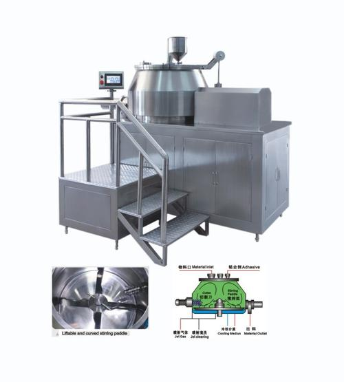 喷涂特弗龙湿法混合制粒机FHSG-12