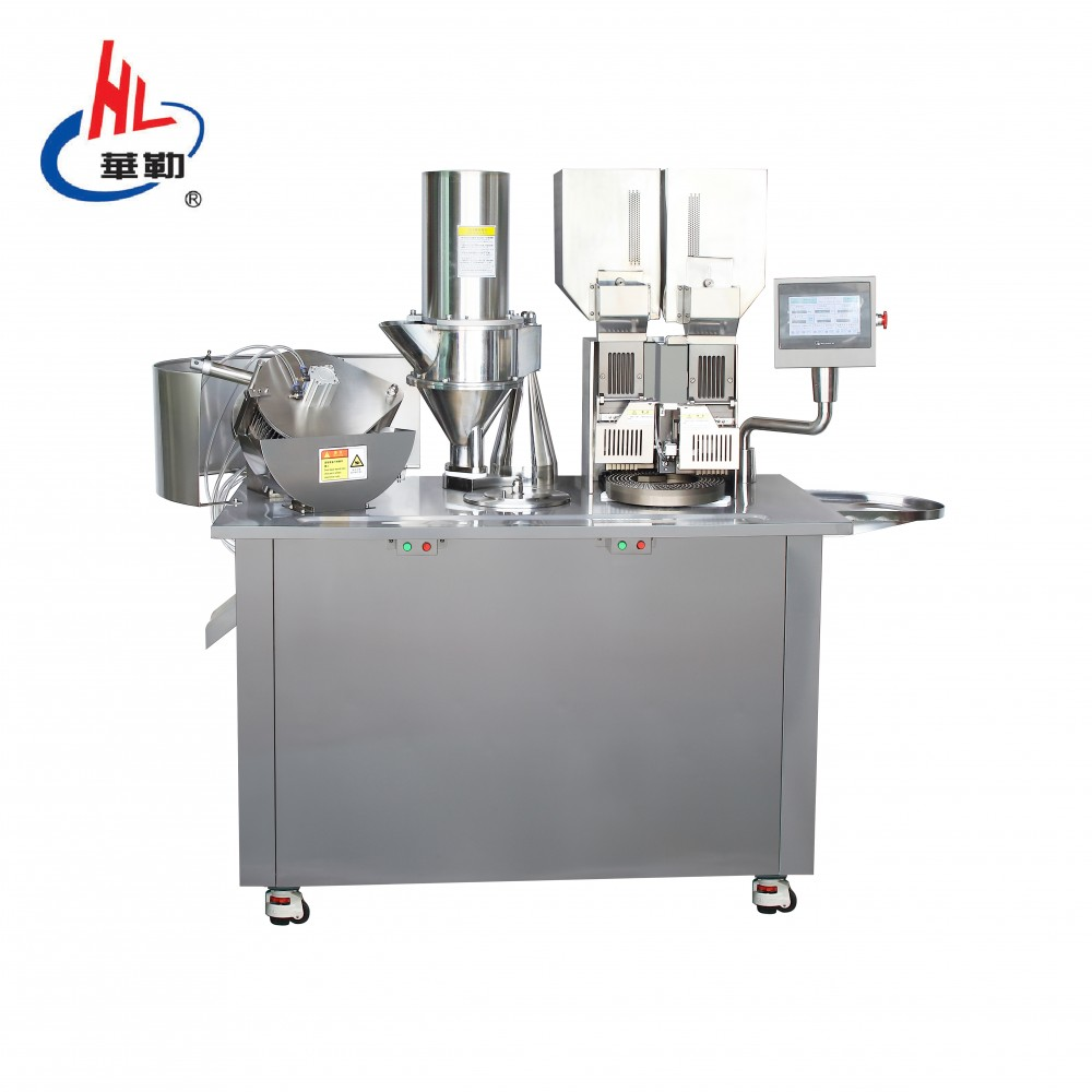 Double loading semi automatic capsule filling machine
