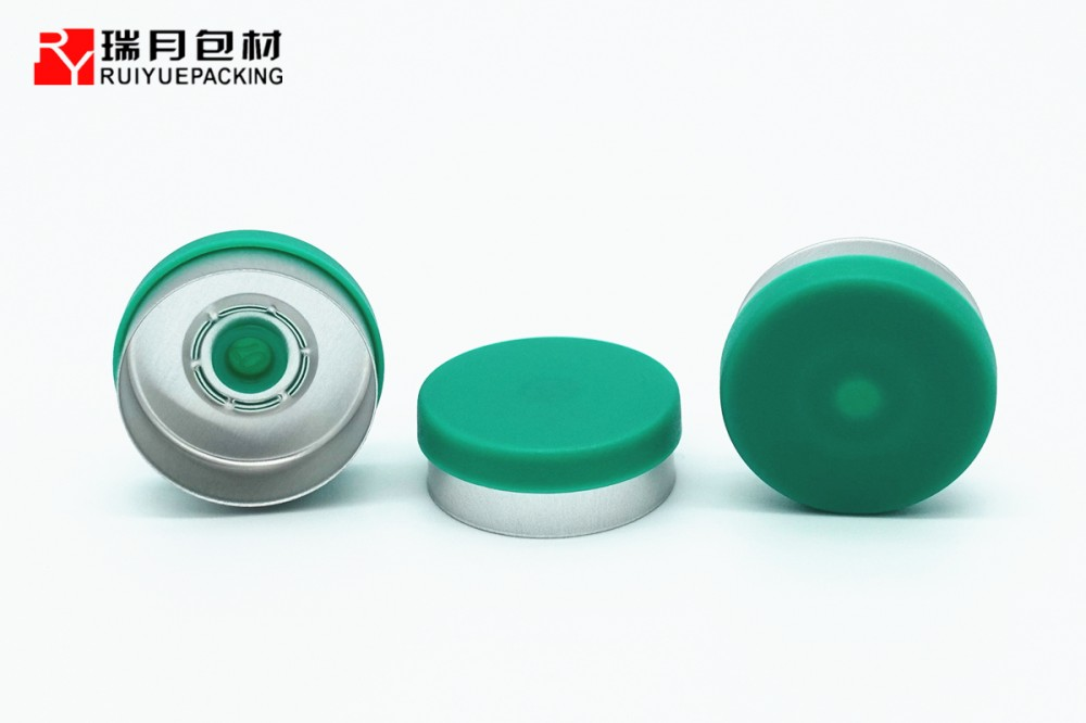 20mm接橋式鋁塑組合蓋,玻璃瓶用鋁蓋