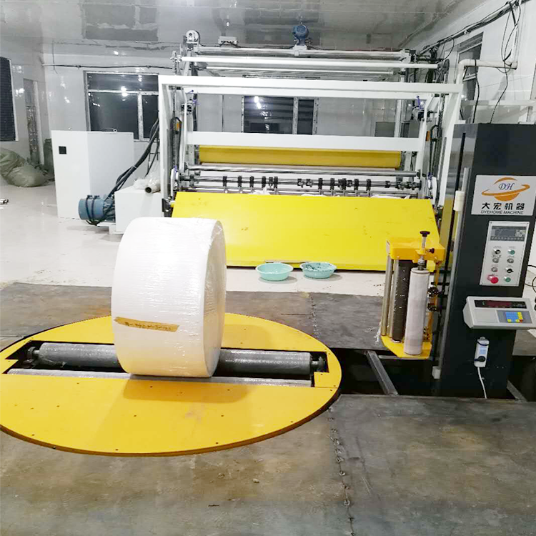 大宏可定制称重式回转支撑结构圆筒缠绕机 圆筒纸无纺布包装机