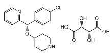 2-[(S)-(4-氯苯基)(4-**基氧基)甲基]吡啶 (2R,3R)-2,3-二羟基丁二酸盐