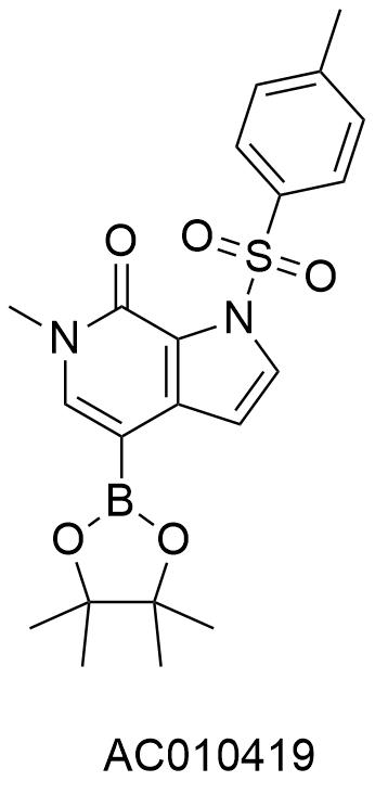6-甲基-4-(4,4,5,5,-四甲基-1,3,2-二氧**-2-基)-1-对苯甲磺基-1H-吡咯并[2,3-C]吡啶-7(6H)-酮