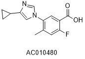 5-(4-环丙基-1H-咪唑-1-基)-2-氟-4-甲基苯甲酸