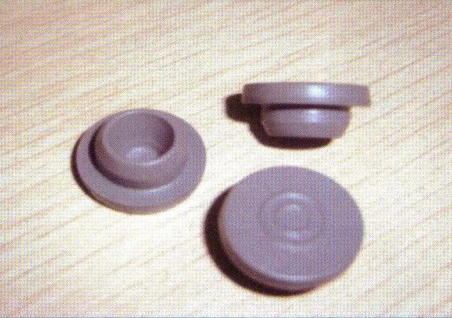 rubber stopper for antibiotics